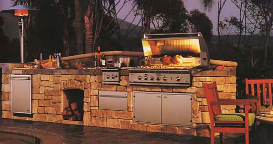 Outdoor kitchen design for Custom outdoor bbq kitchens